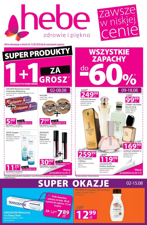 Gazetka promocyjna Hebe do 15/08/2018 str.0