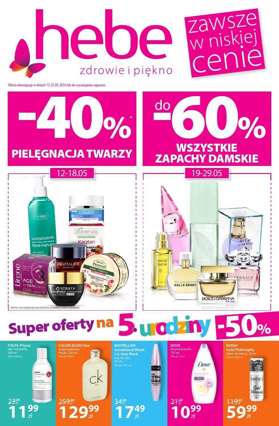Gazetka promocyjna Hebe do 25/05/2016 str.0