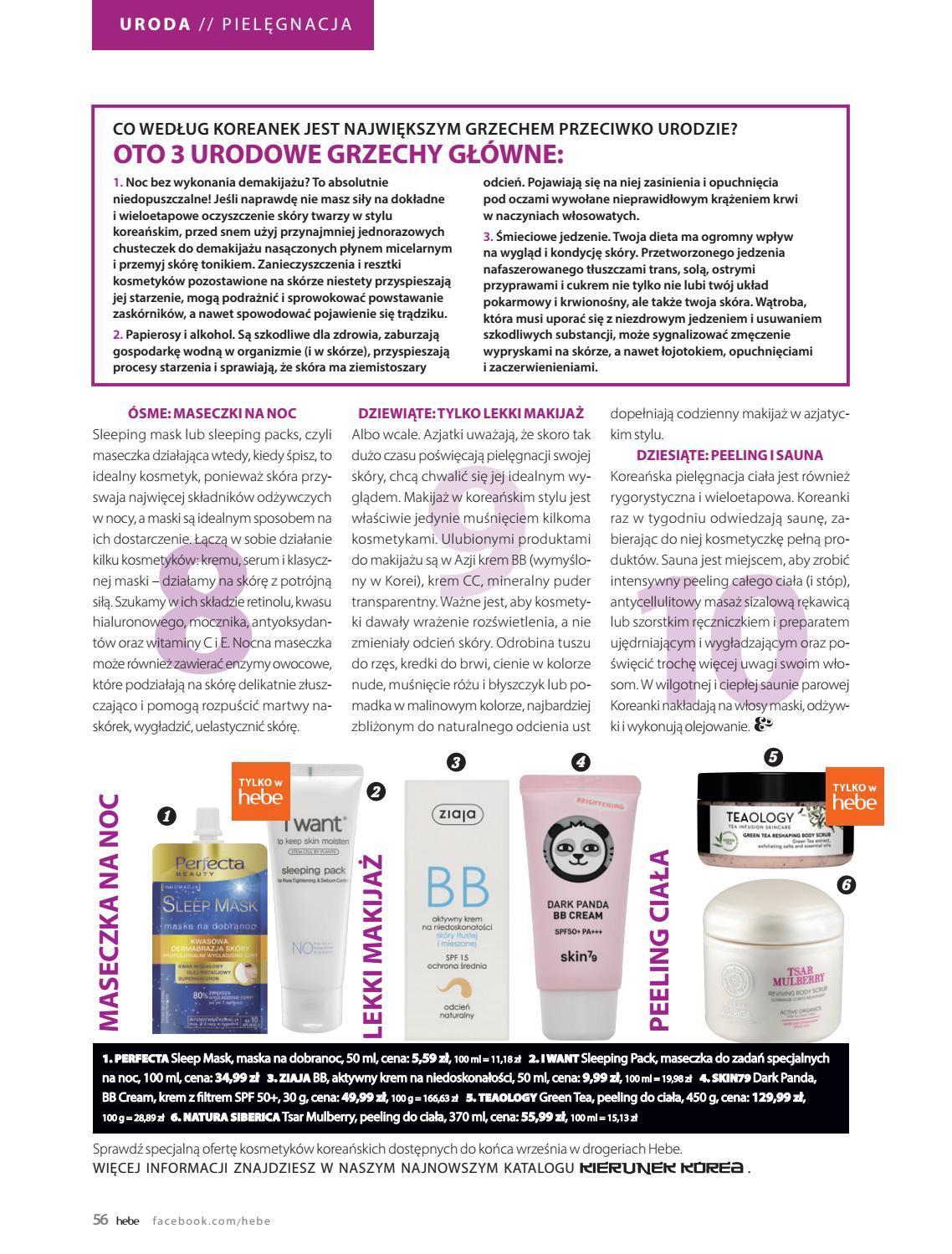Gazetka promocyjna Hebe do 30/09/2018 str.56