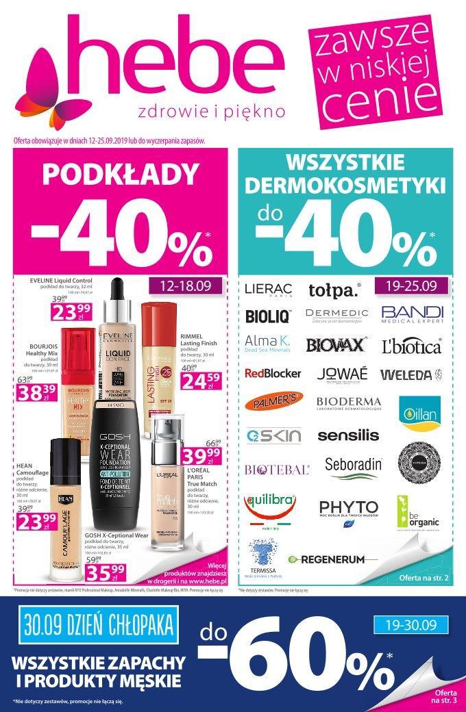 Gazetka promocyjna Hebe do 25/09/2019 str.1