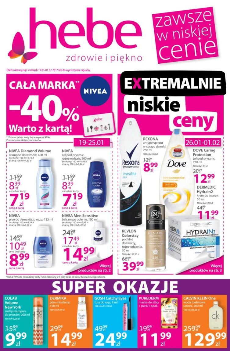 Gazetka promocyjna Hebe do 01/02/2017 str.0