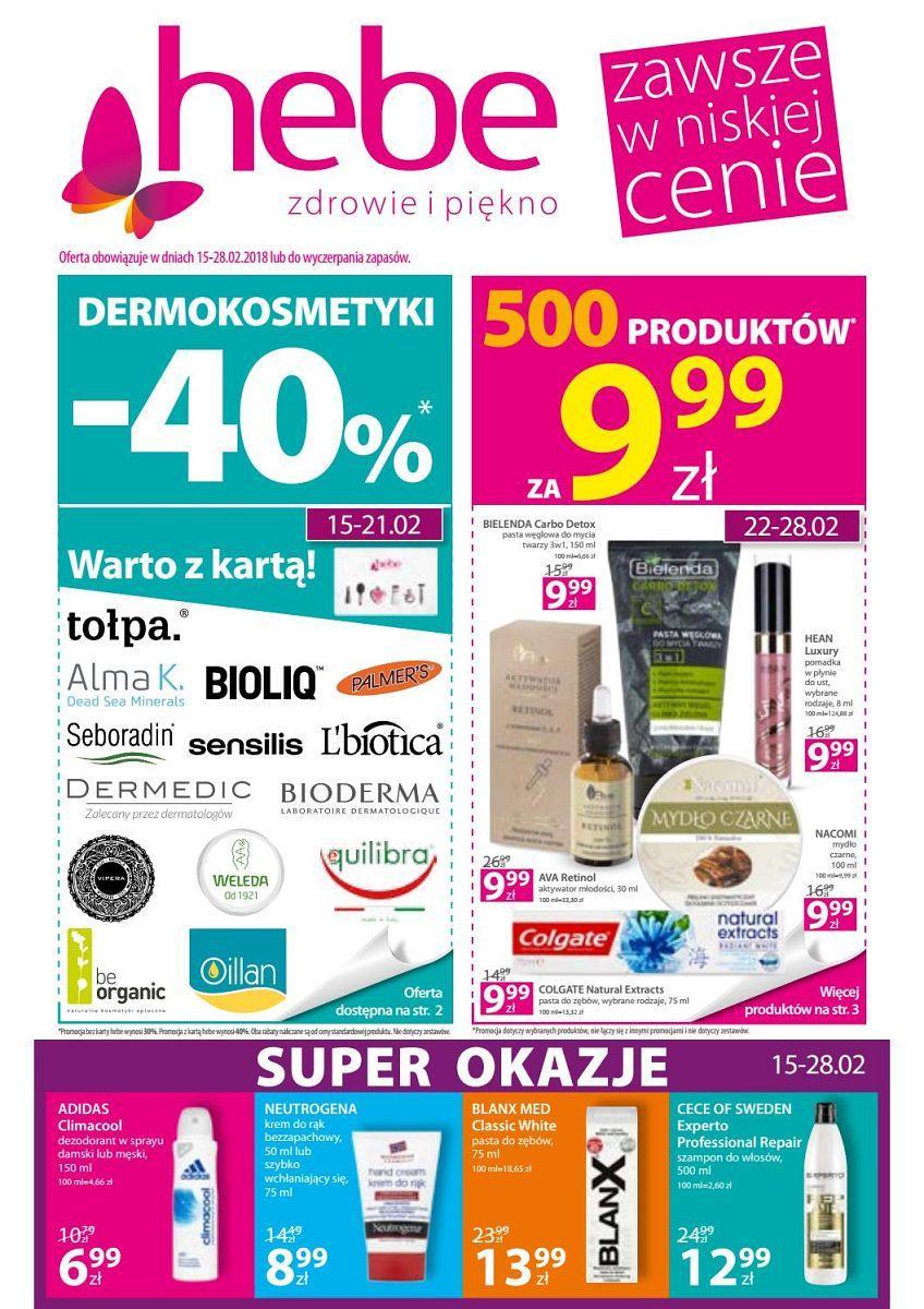 Gazetka promocyjna Hebe do 28/02/2018 str.0