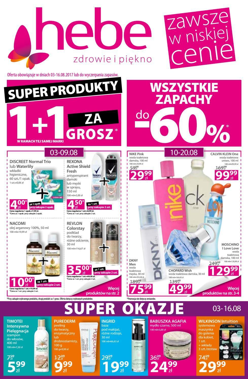 Gazetka promocyjna Hebe do 16/08/2017 str.0