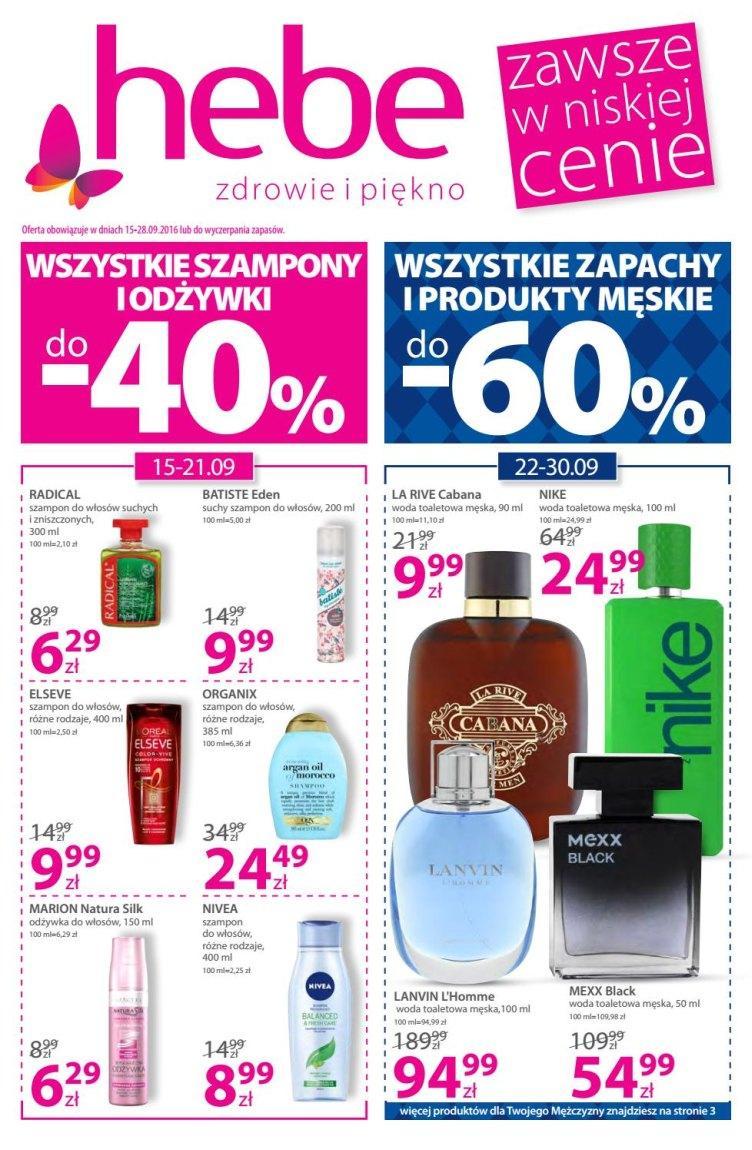 Gazetka promocyjna Hebe do 28/09/2016 str.0