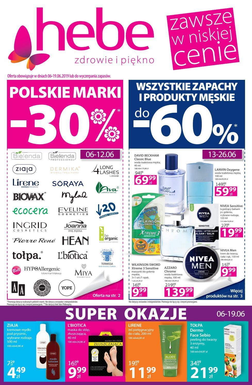 Gazetka promocyjna Hebe do 19/06/2019 str.1