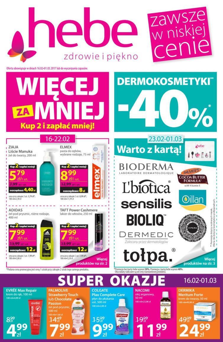 Gazetka promocyjna Hebe do 01/03/2017 str.0