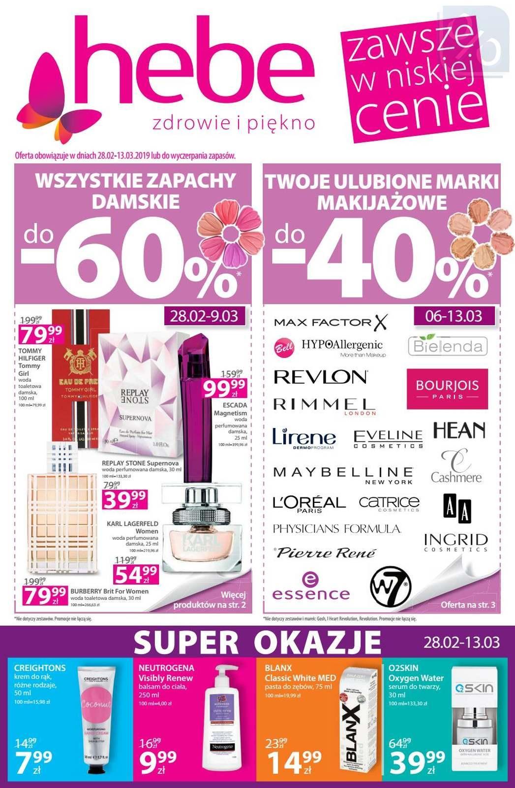 Gazetka promocyjna Hebe do 13/03/2019 str.0