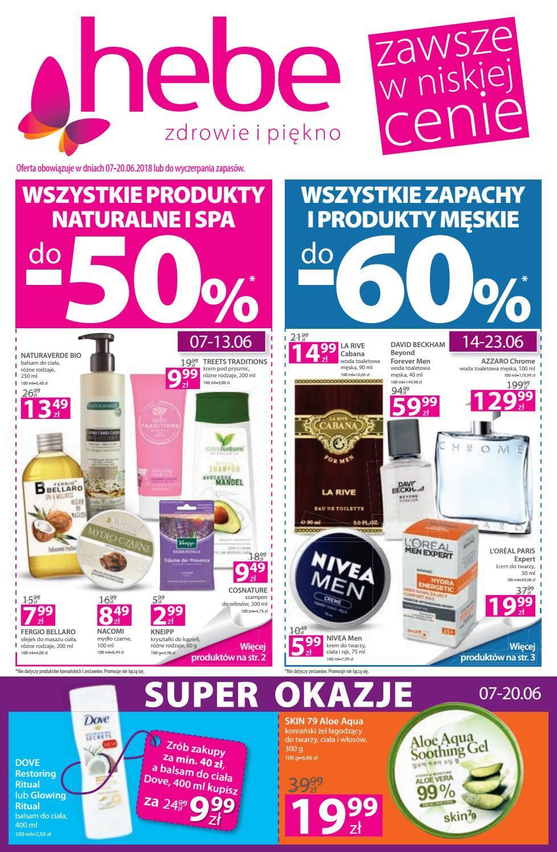 Gazetka promocyjna Hebe do 20/06/2018 str.0