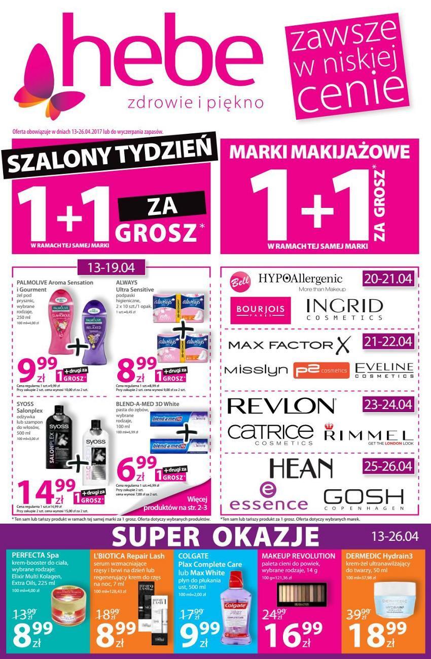 Gazetka promocyjna Hebe do 26/04/2017 str.0