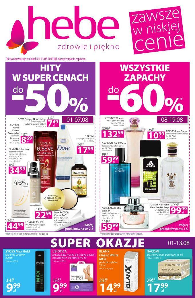 Gazetka promocyjna Hebe do 14/08/2019 str.1