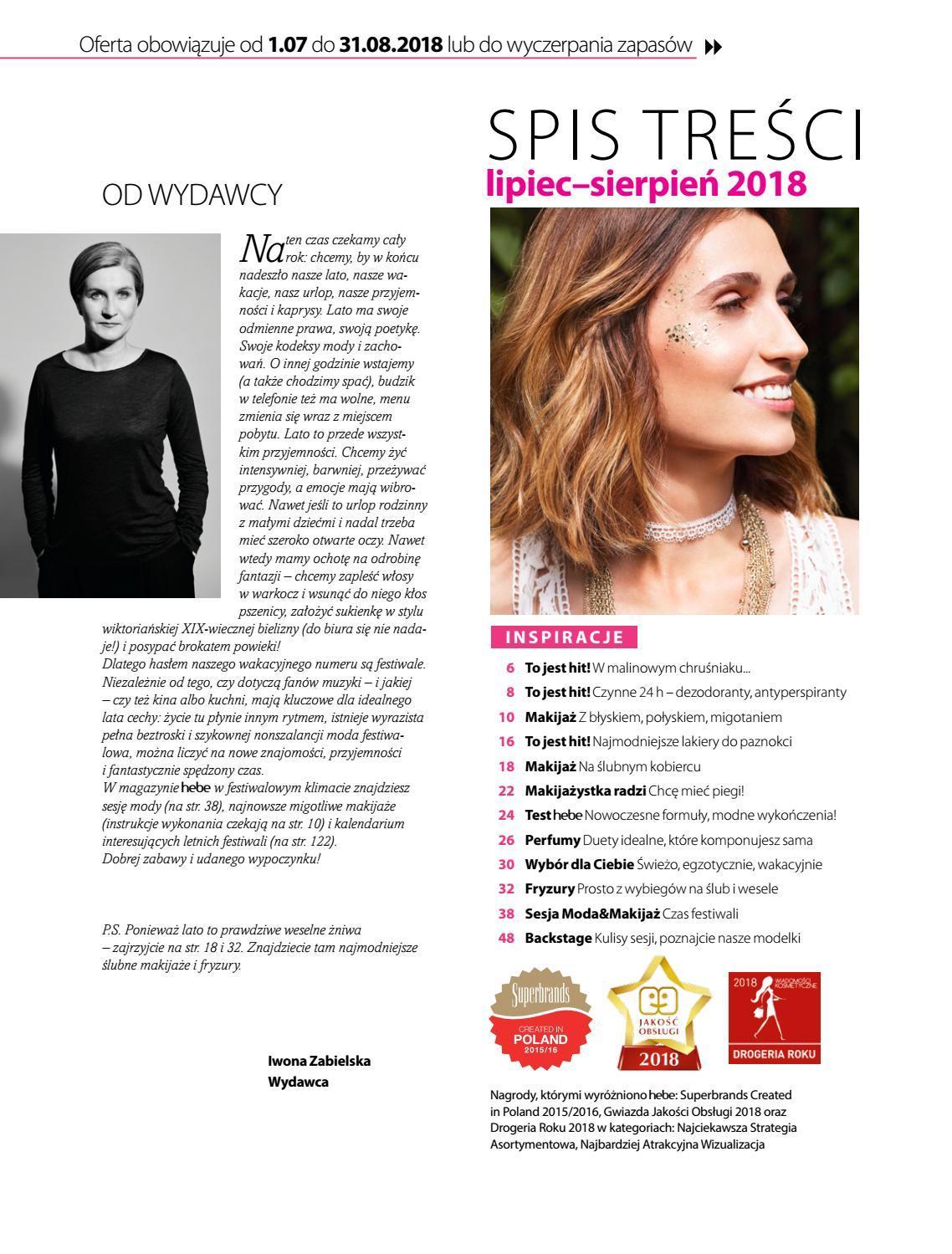 Gazetka promocyjna Hebe do 31/08/2018 str.2