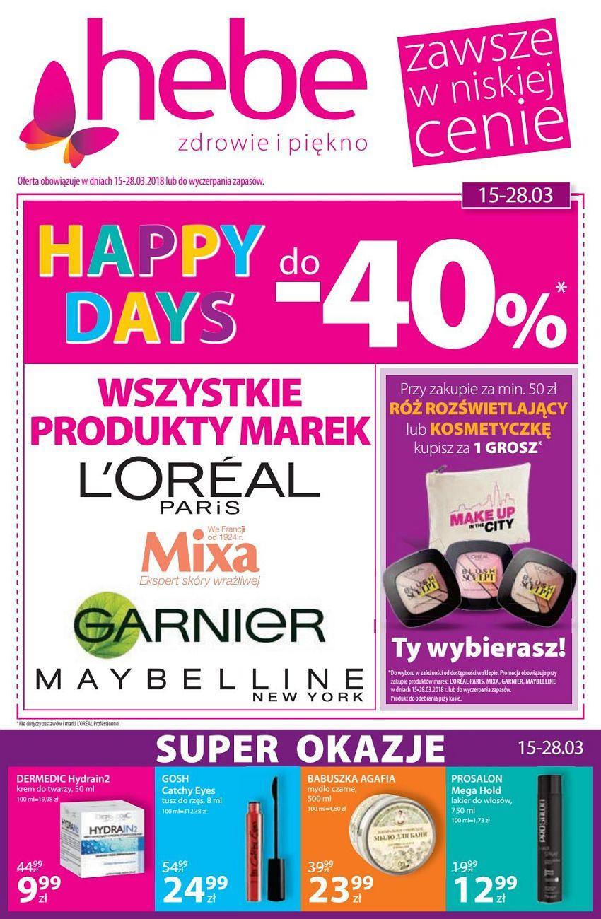 Gazetka promocyjna Hebe do 28/03/2018 str.0