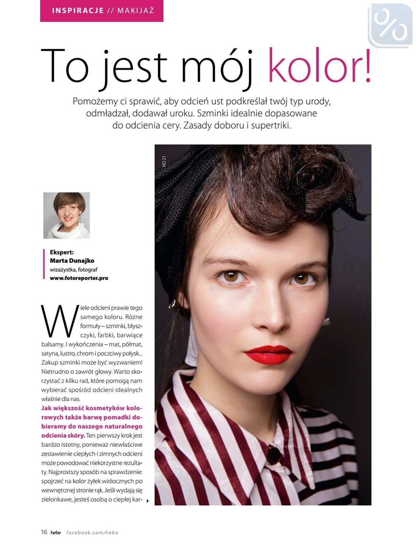 Gazetka promocyjna Hebe do 31/01/2019 str.16