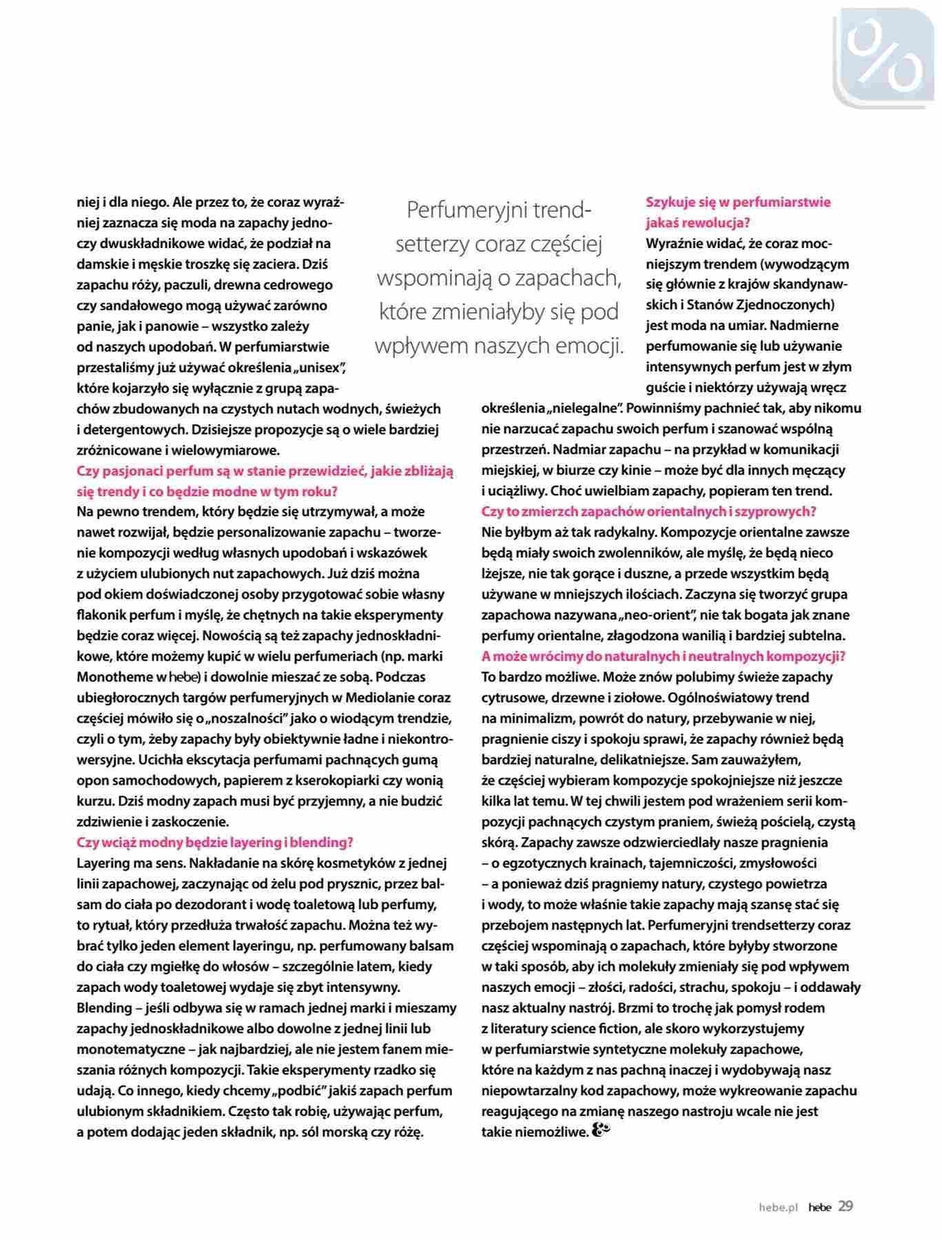 Gazetka promocyjna Hebe do 31/01/2019 str.29