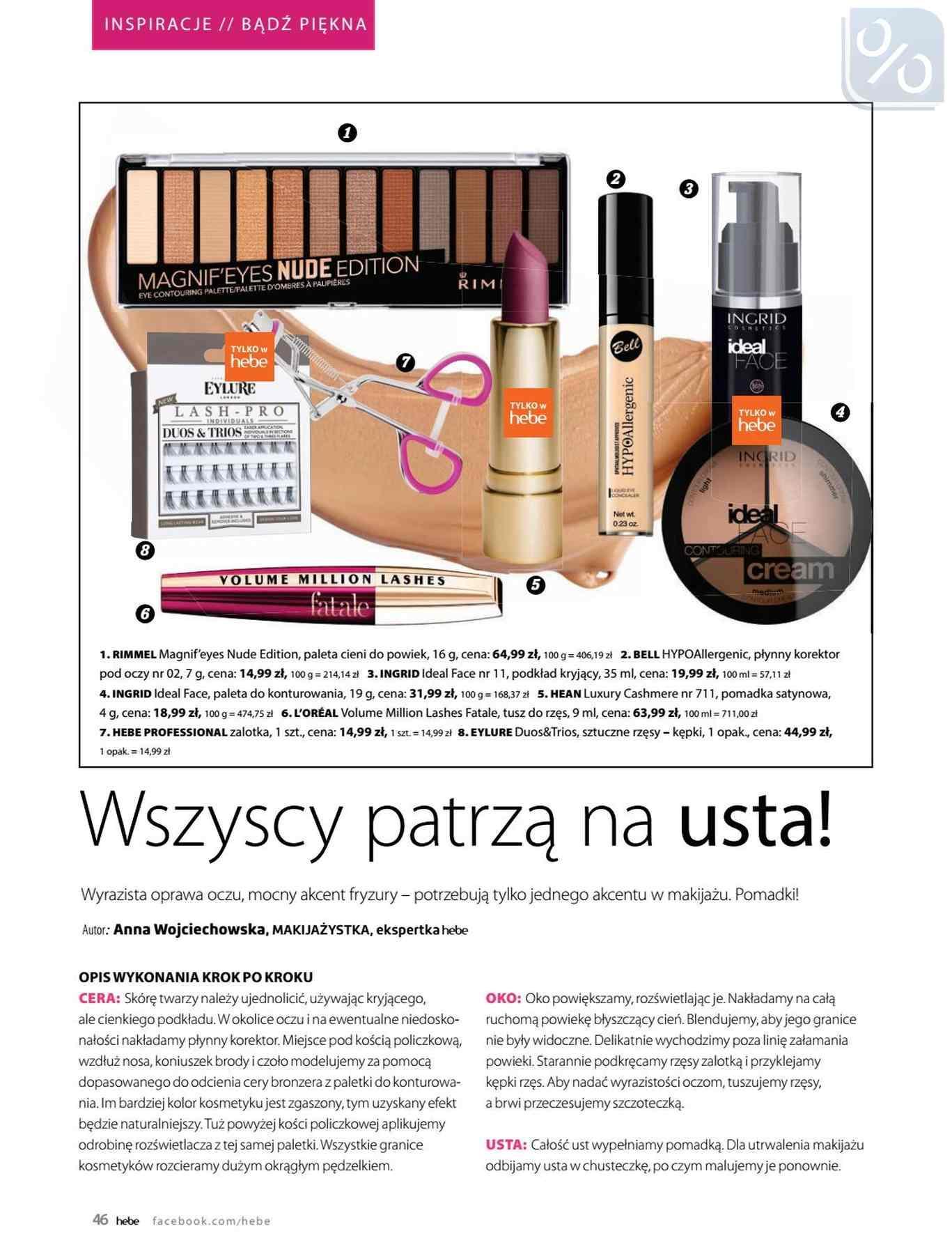 Gazetka promocyjna Hebe do 31/01/2019 str.46