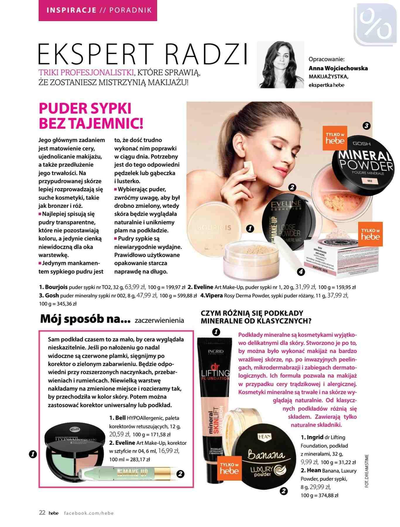 Gazetka promocyjna Hebe do 31/01/2019 str.22