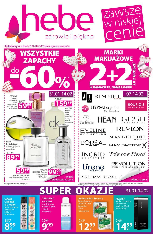 Gazetka promocyjna Hebe do 13/02/2019 str.0