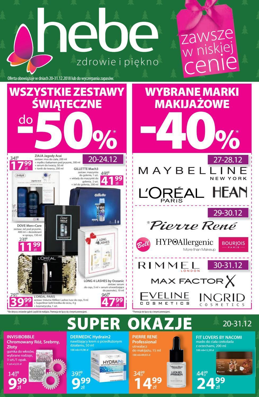 Gazetka promocyjna Hebe do 31/12/2018 str.0
