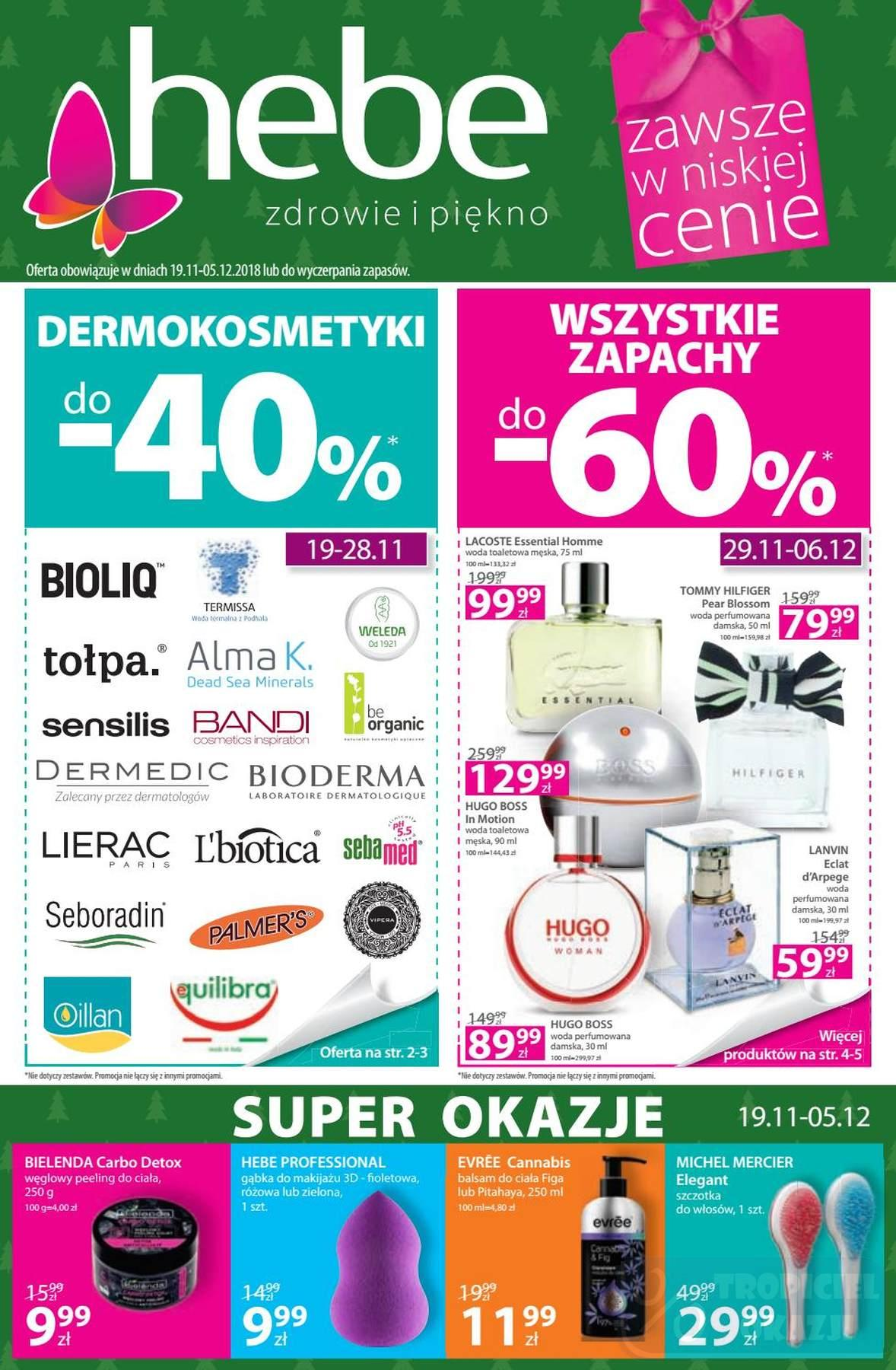 Gazetka promocyjna Hebe do 05/12/2018 str.0