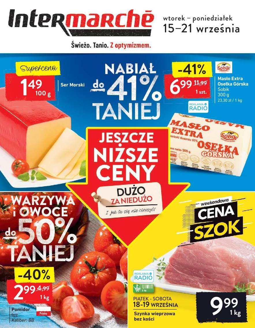 Gazetka promocyjna Intermarche do 21/09/2020 str.1