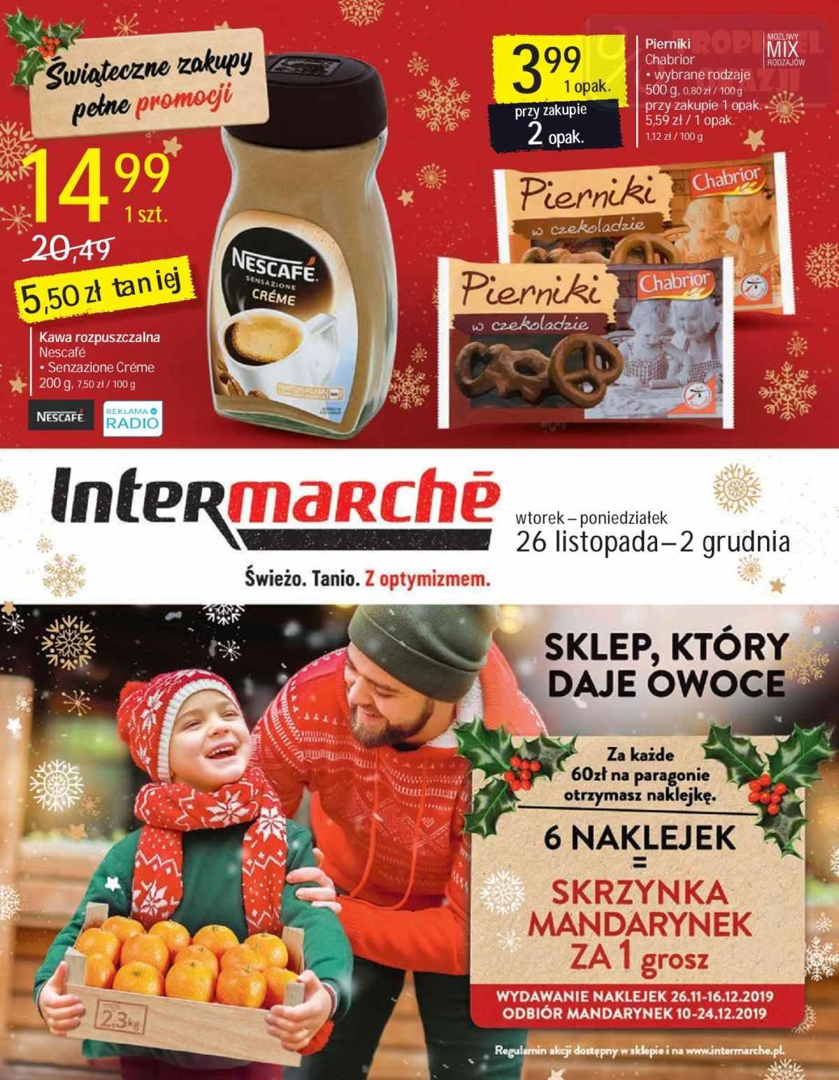 Gazetka promocyjna Intermarche do 02/12/2019 str.1