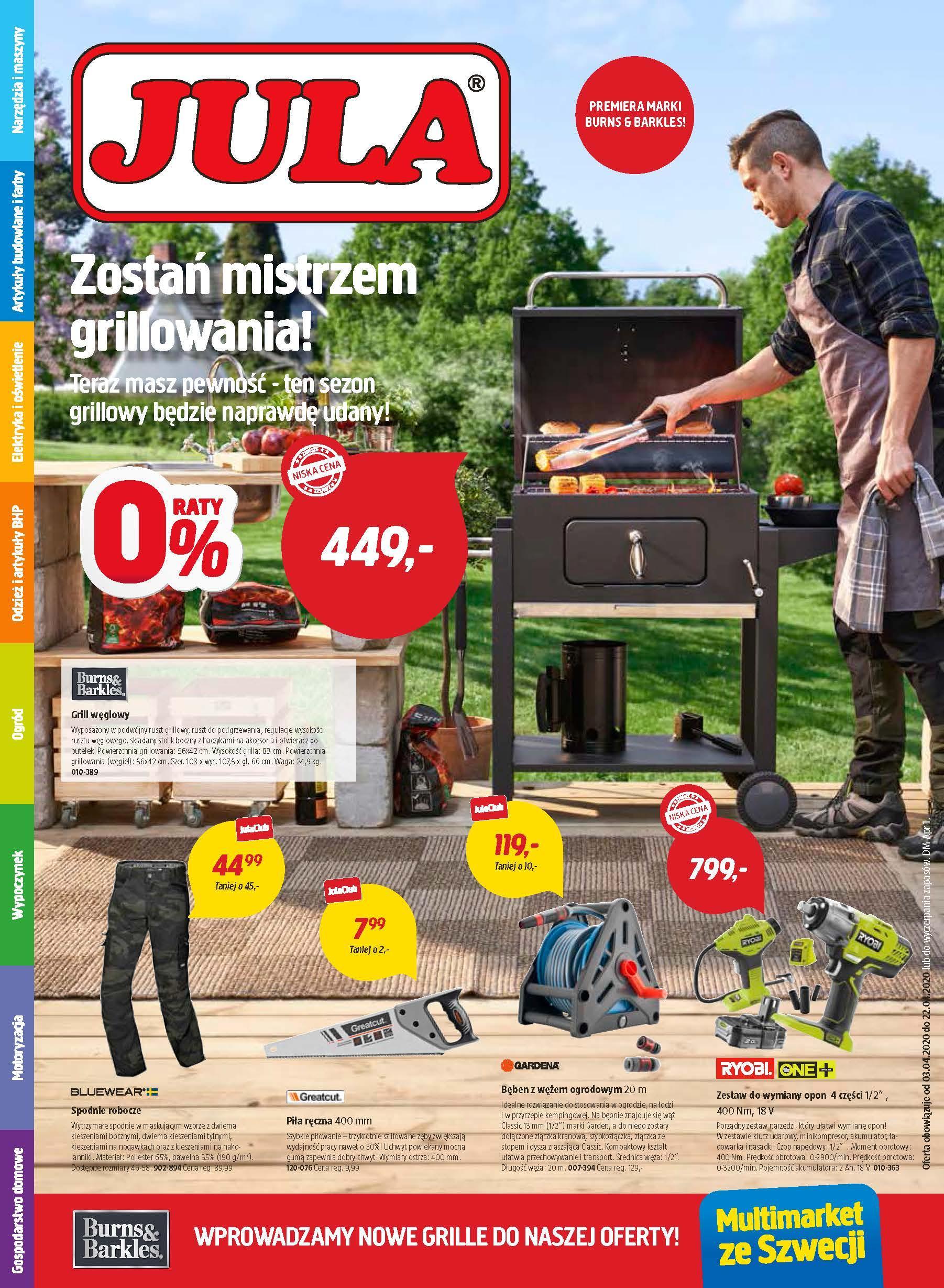Gazetka promocyjna Jula do 22/04/2020 str.1