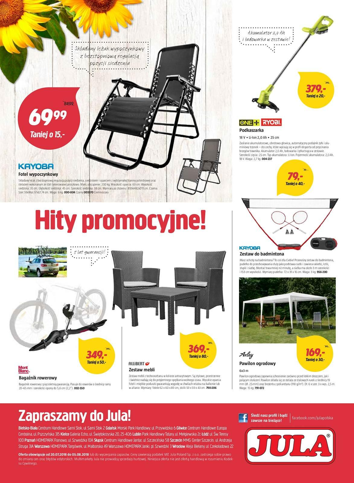 Gazetka promocyjna Jula do 05/08/2018 str.7