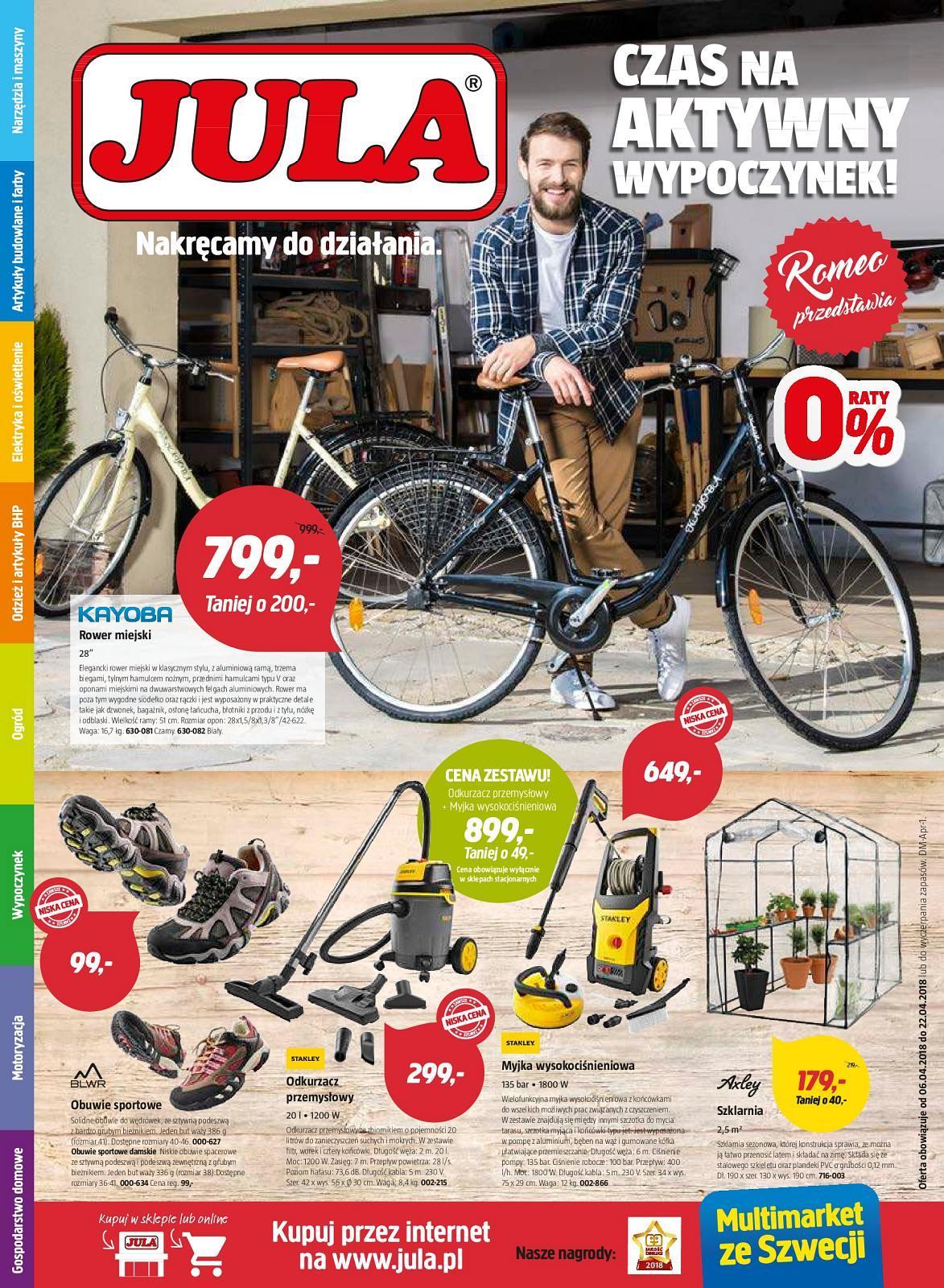Gazetka promocyjna Jula do 22/04/2018 str.0