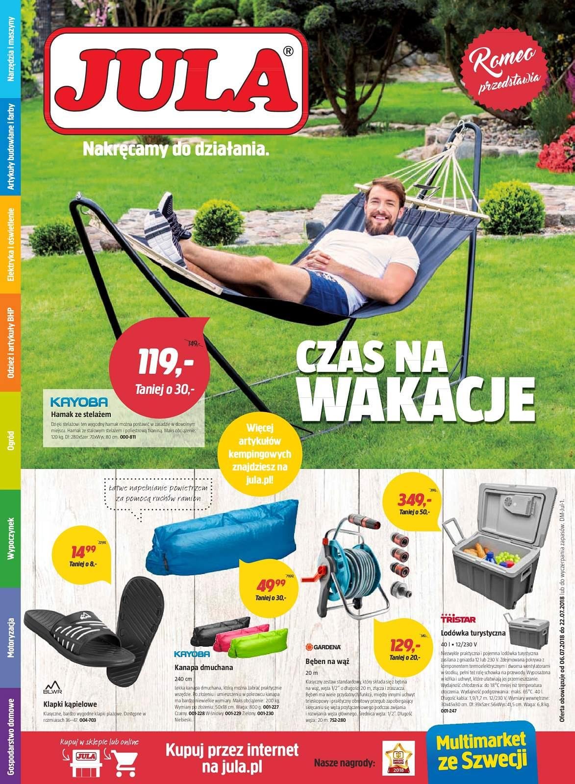 Gazetka promocyjna Jula do 22/07/2018 str.0
