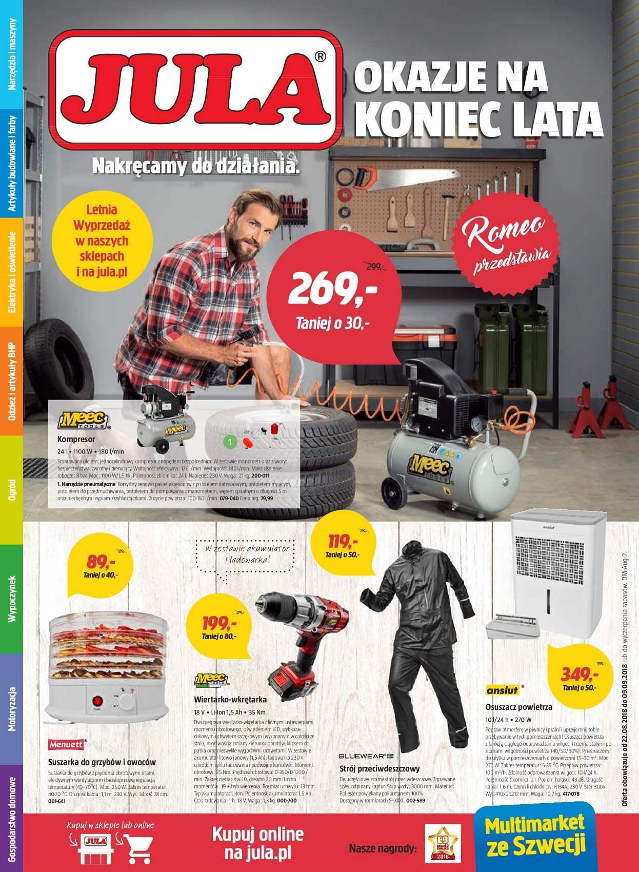 Gazetka promocyjna Jula do 09/09/2018 str.1