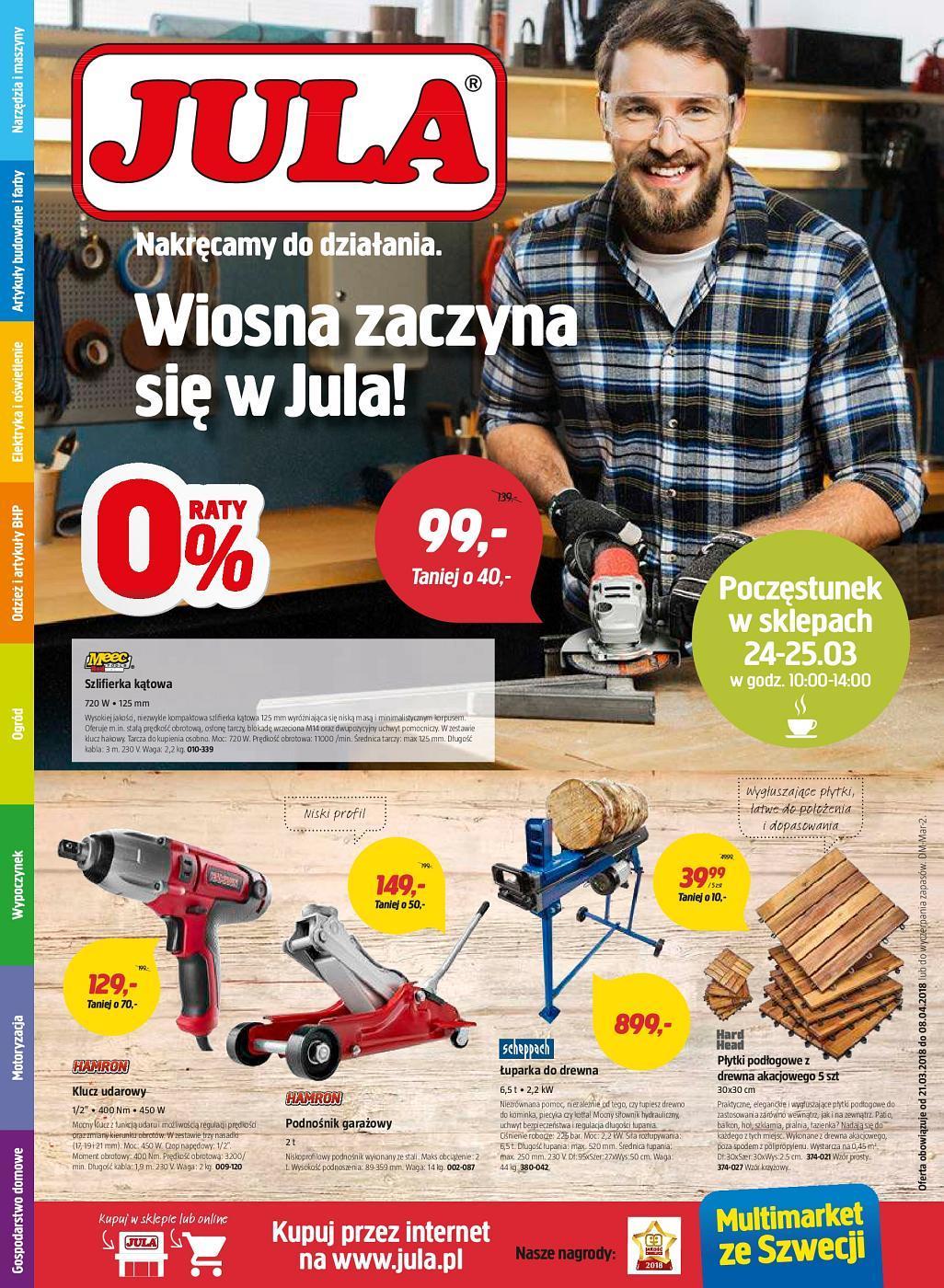 Gazetka promocyjna Jula do 08/04/2018 str.0
