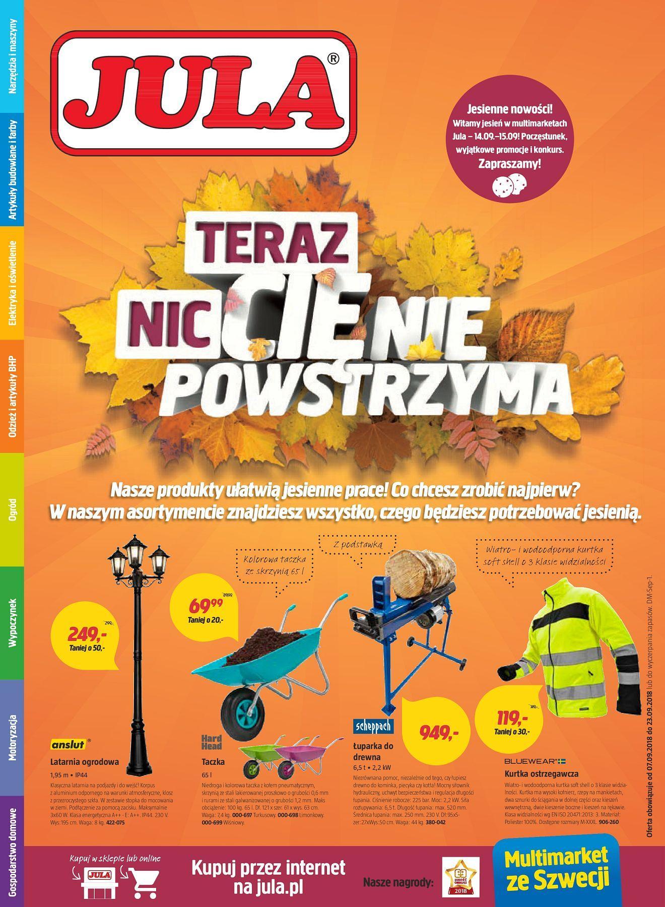 Gazetka promocyjna Jula do 23/09/2018 str.0