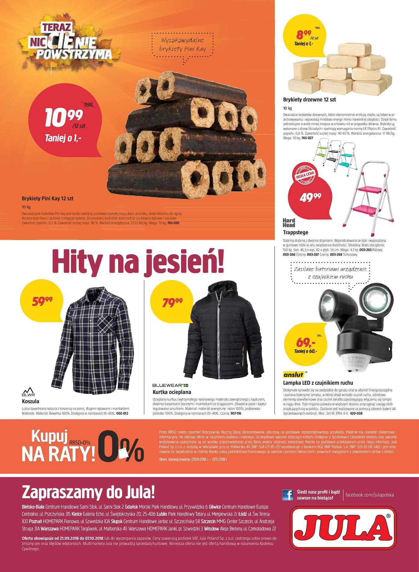 Gazetka promocyjna Jula do 07/10/2018 str.8