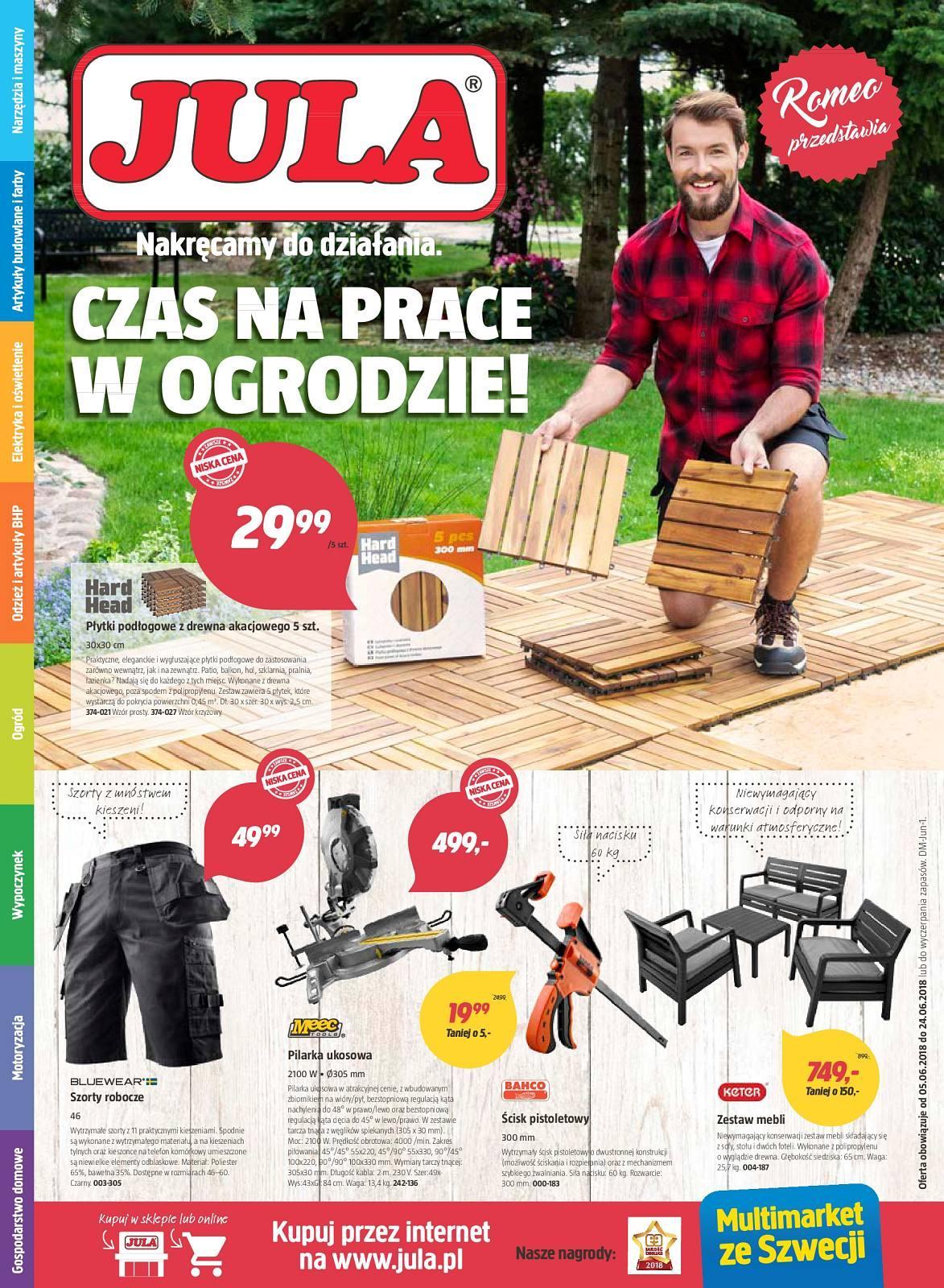 Gazetka promocyjna Jula do 24/06/2018 str.0