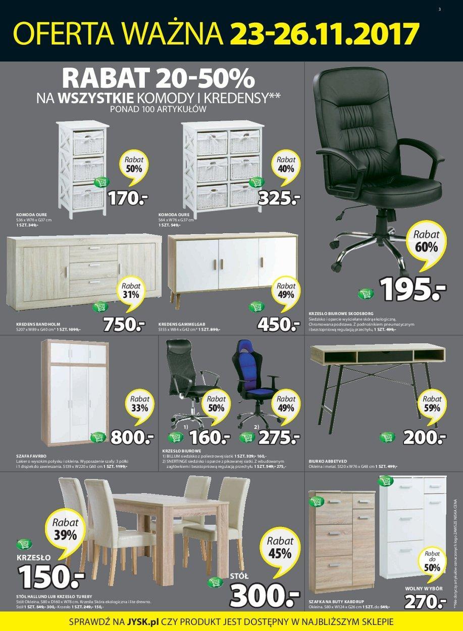Gazetka promocyjna i reklamowa Jysk, od 23112017 do 2611