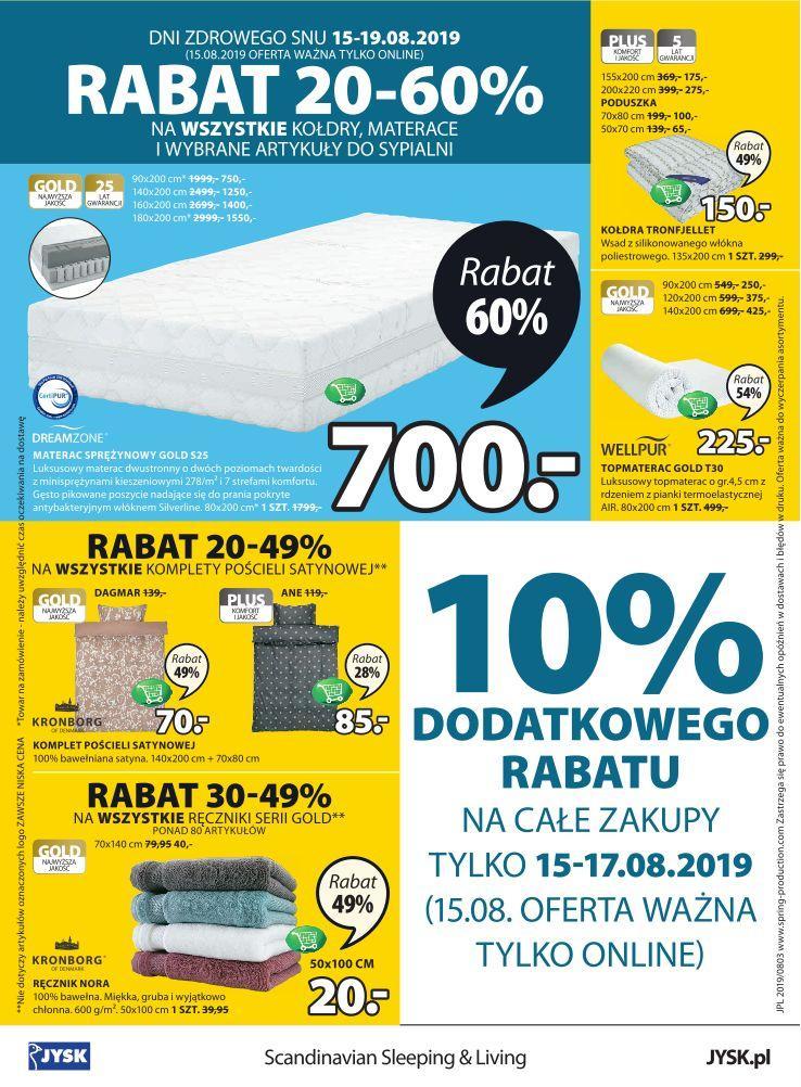 Gazetka promocyjna Jysk do 28/08/2019 str.16
