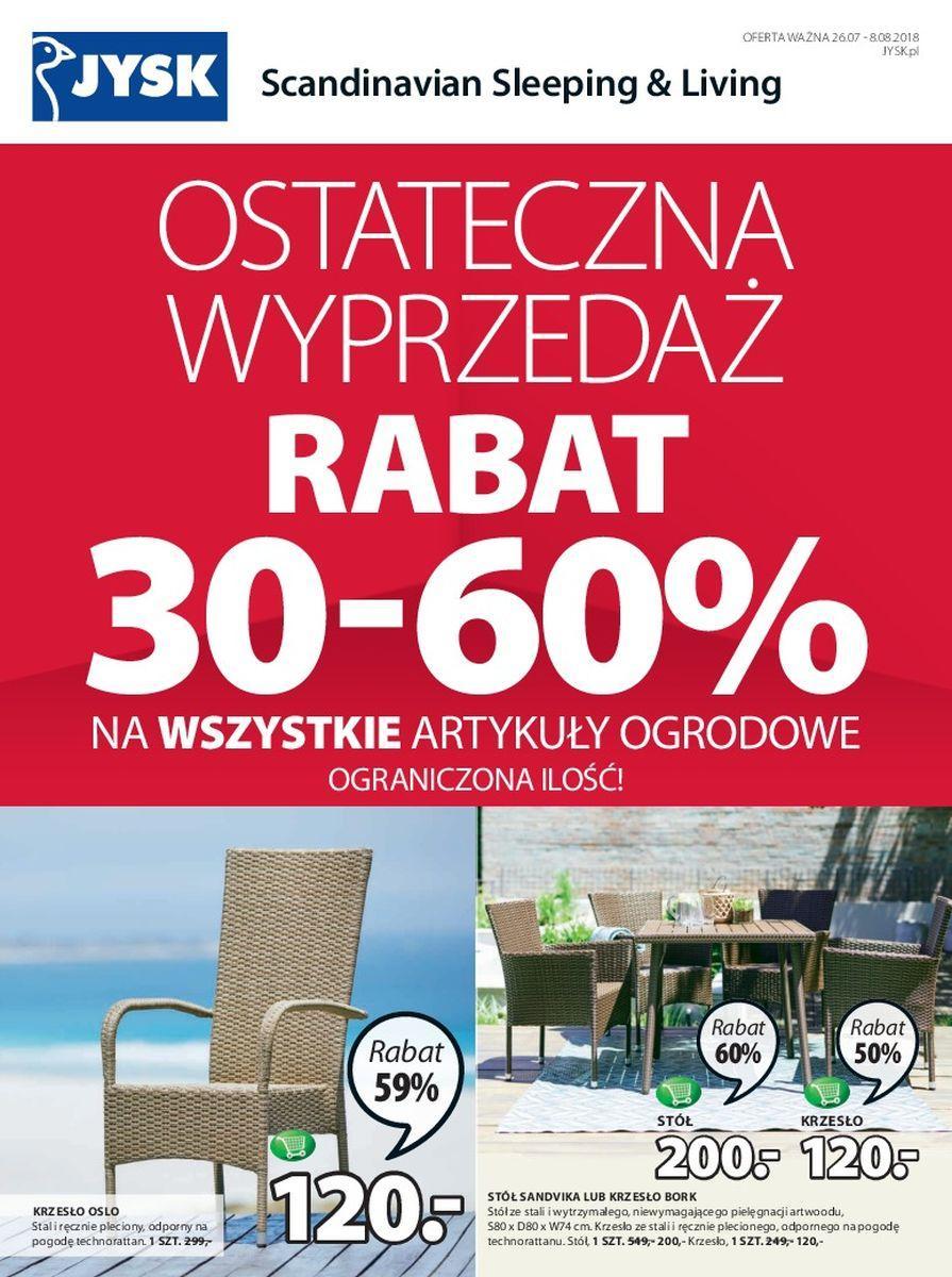 Gazetka promocyjna Jysk do 08/08/2018 str.0