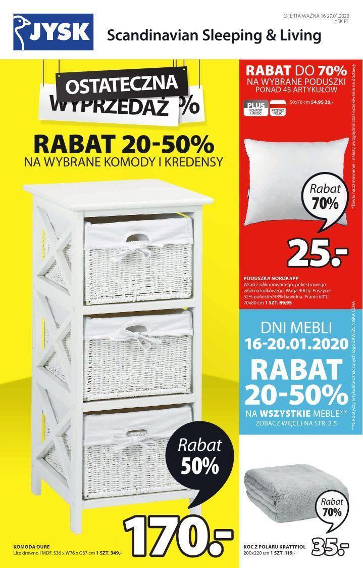 Gazetka promocyjna Jysk do 29/01/2020 str.1