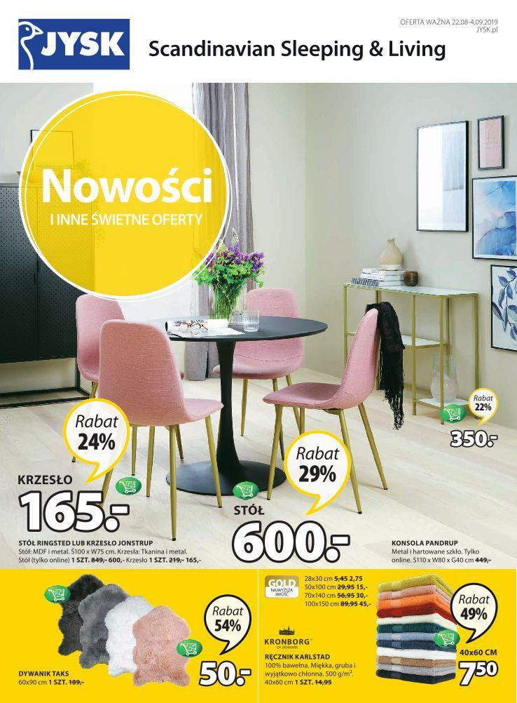 Gazetka promocyjna Jysk do 04/09/2019 str.1