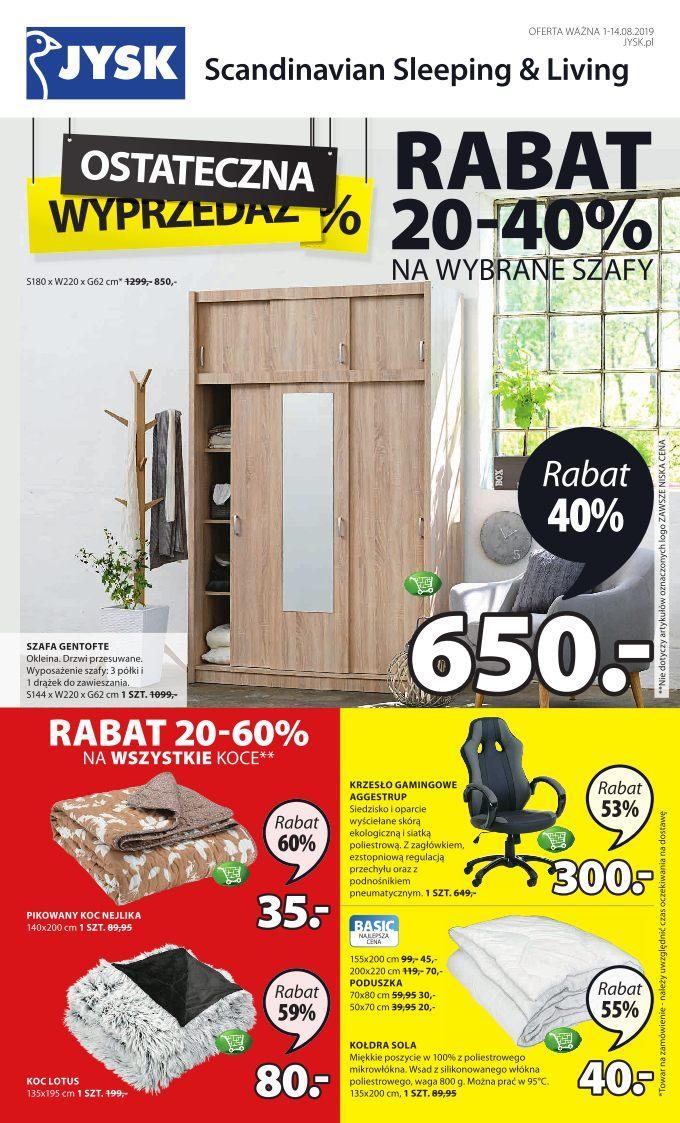 Gazetka promocyjna Jysk do 14/08/2019 str.1
