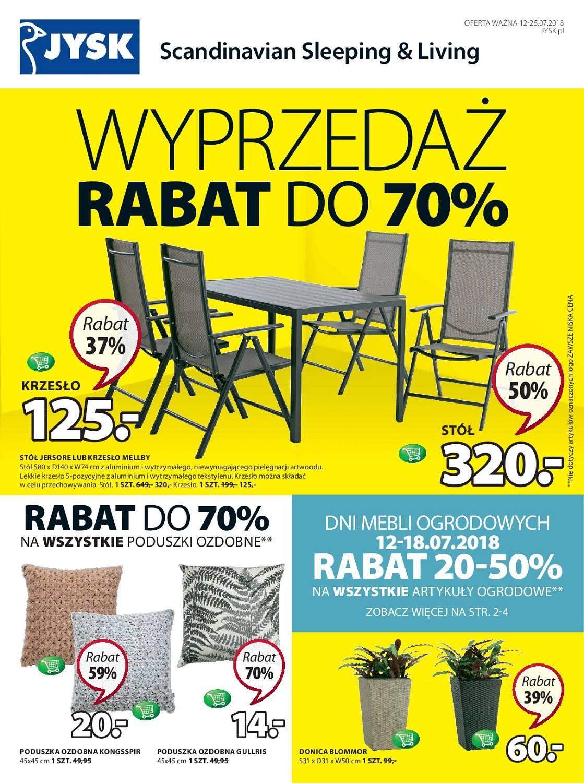 Gazetka promocyjna Jysk do 25/07/2018 str.0