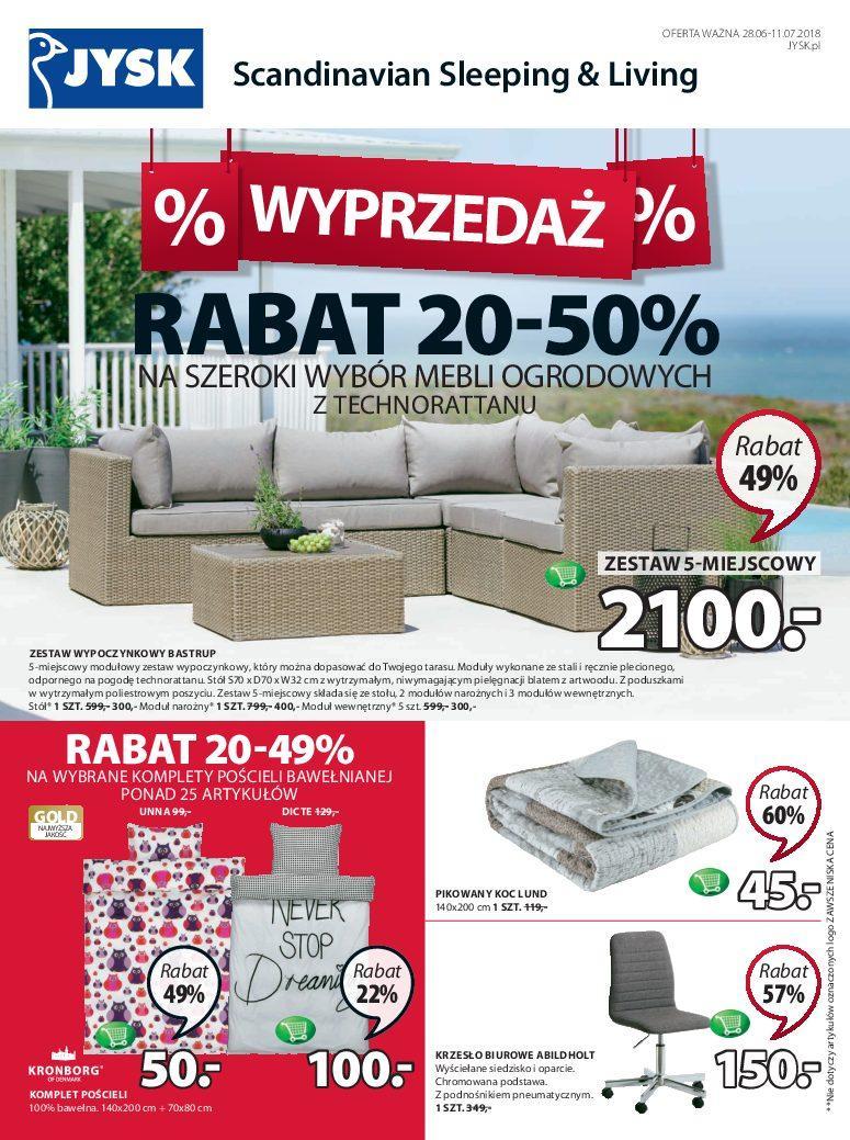 Gazetka promocyjna Jysk do 11/07/2018 str.1