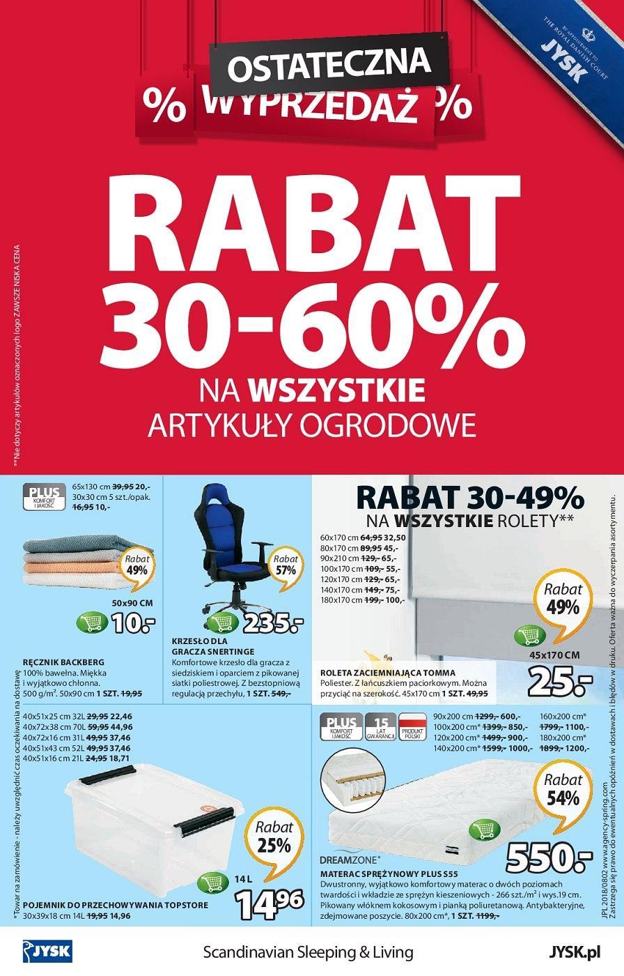 Gazetka promocyjna Jysk do 22/08/2018 str.8