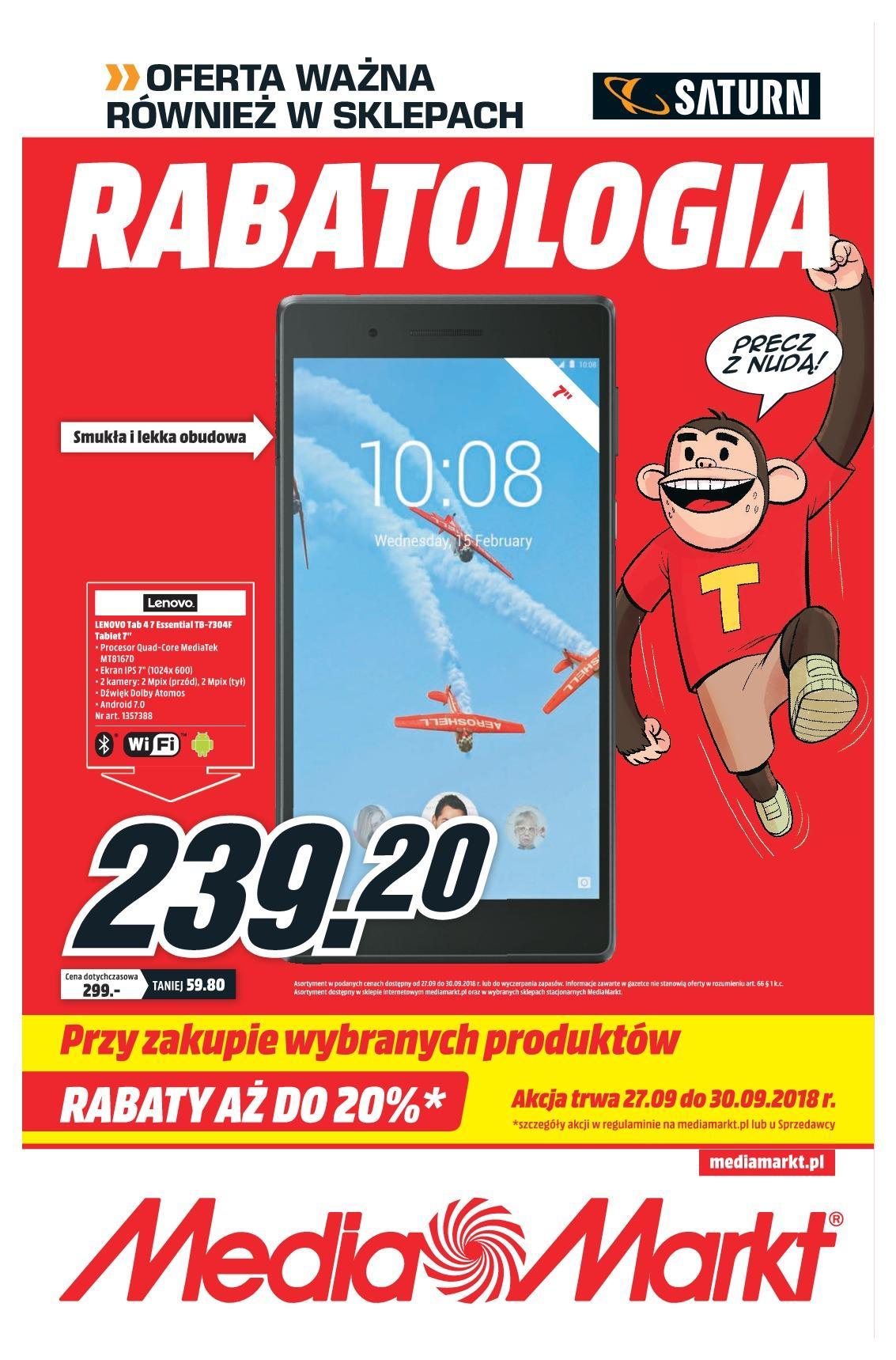 Gazetka promocyjna Media Markt do 30/09/2018 str.0