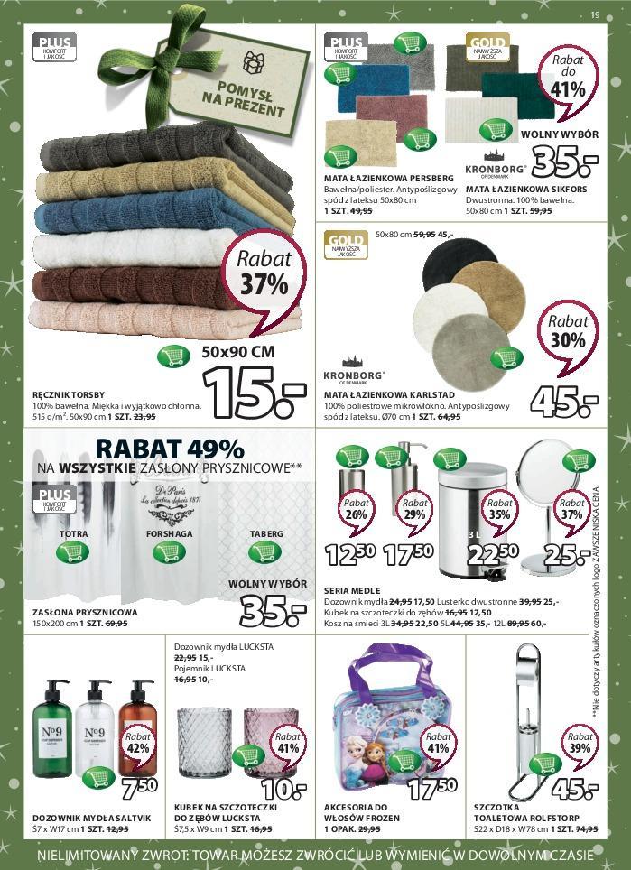 Gazetka promocyjna Jysk do 28/11/2018 str.19