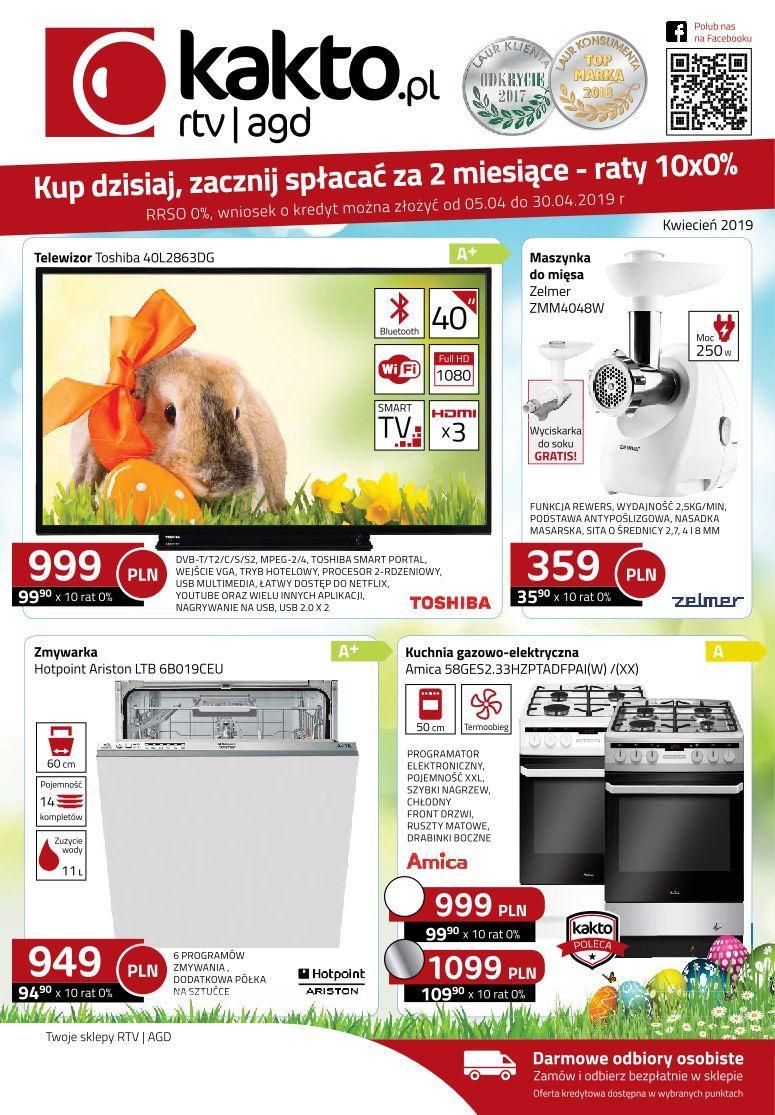 Gazetka promocyjna Kakto.pl do 30/04/2019 str.0