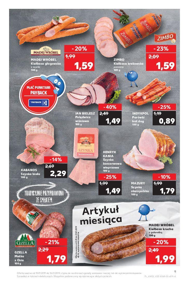 Gazetka promocyjna Kaufland do 16/01/2019 str.9