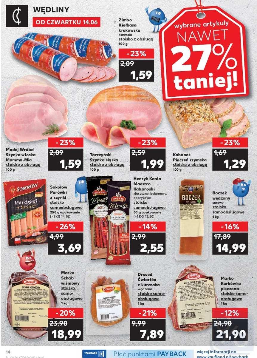 Gazetka promocyjna Kaufland do 20/06/2018 str.14