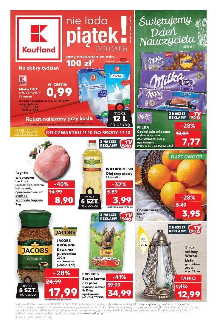 Gazetka promocyjna Kaufland do 17/10/2018 str.1
