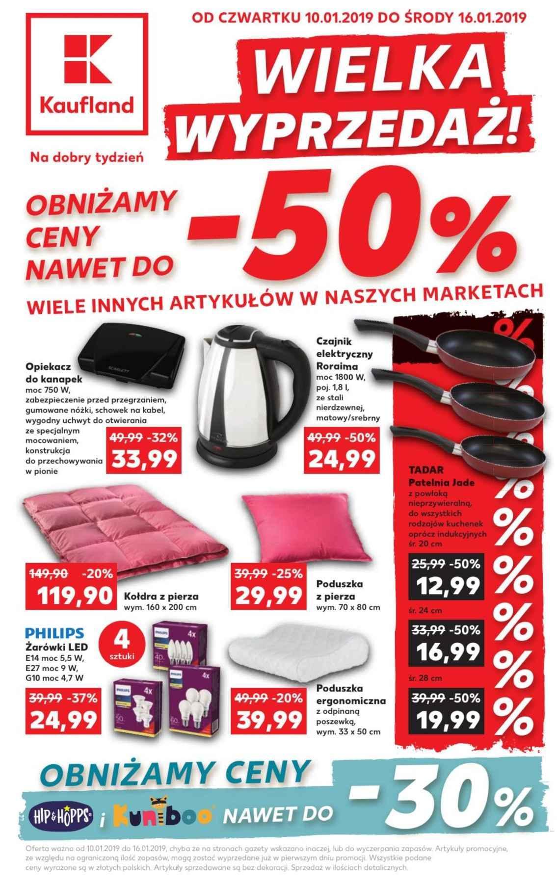 Gazetka promocyjna Kaufland do 16/01/2019 str.1